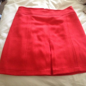 Ann Taylor LOFT Mini Skirt Red