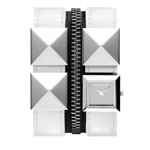 Karl Lagerfeld Karl Lagerfeld White Double Band Leather Bracelet Watch KL2006