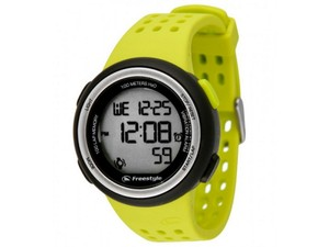 Freestyle 10019175 Fx Trainer Yellow Silicone Bracelet With Grey Digital Dial