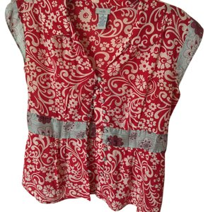 Anthropologie Top Red multi