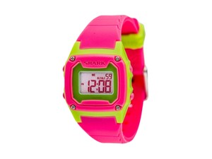Freestyle 10019184 Shark Women's Pink Silicone Bracelet With Grey Digital Dial