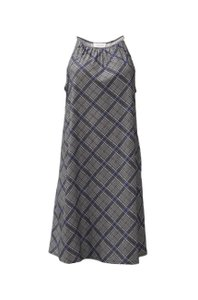 Amy Matto short dress blue grey Knee Length Pull Over Stretch Fit Unlined on Tradesy