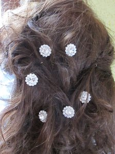 Silver Magnetic Veil Weights/Hair Clips Hair Accessory