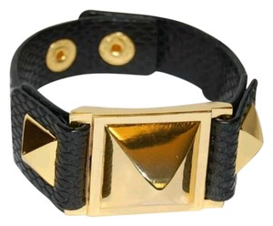 Vince Camuto Pyramid studded snap closure leather bracelet