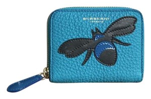 Burberry Burberry Turquoise Blue Leather Bee Wallet