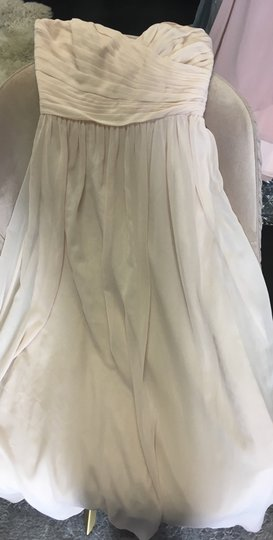 Monique Lhuillier Blush Chiffon Madeline Bridesmaid/Mob Dress Size 2 (XS)
