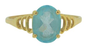 Other Oval Aquamarine Cocktail Ring in 14k Yellow Gold - March Birthstone