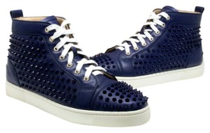 Christian Louboutin Valentino Versace Gucci Mens Studded Blue Athletic