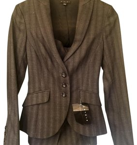 Sisley charcoal formal 3-button skirt suits ( two piece)