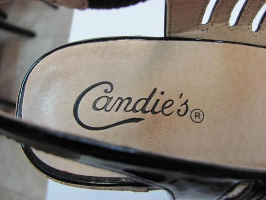 Candie's Good Condition BLACK PATENT Platforms
