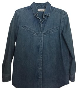 MiH Jeans Button Down Shirt Blue