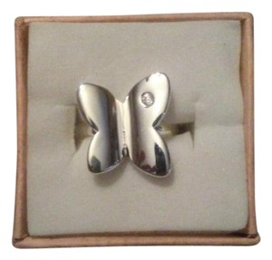 Other Size 8 Sterling Silver Butterfly Ring