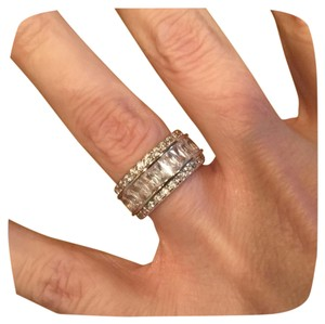 Other New White Gold Filled Eternity Wedding Band