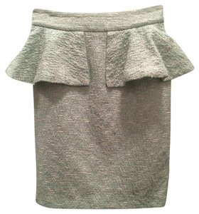 Zara Skirt light Green Boucl
