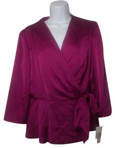 Alex Evenings Top Fuchsia