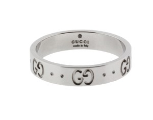 Gucci Gucci Icon thin band band ring in 18 karat white gold new in box size6