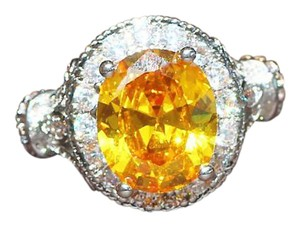 Other New Yellow Topaz White Gold Filled Ring