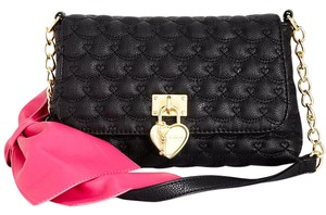 Betsey Johnson Front Flap Snap Closure Cross Body Bag