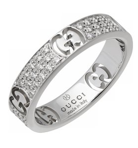 Gucci Gucci Icon Stardust Thin diamond eternity band ring 18k white gold