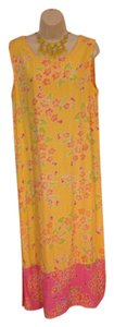 Yellow & Pink Maxi Dress by Other Floral Maxi Size 10 Medium Machine Washable