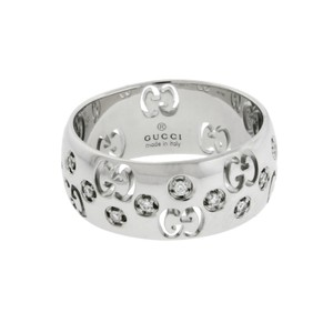 Gucci Gucci Icon diamond eternity band ring in 18k white gold size Italy 14