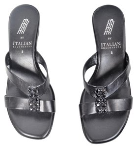 Other Cushioned Wedge Studded Black Sandals
