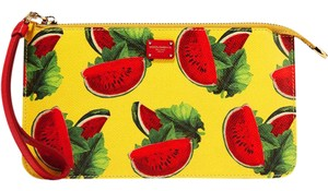 Dolce&Gabbana Dolce And Gabbana Resort 17 Pouch Watermelon Wristlet in multi