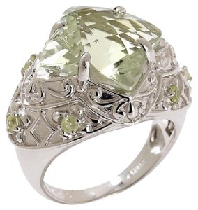 Victoria Wieck Victoria Wieck 6.1ct Prasiolite and Peridot Sterling Ring