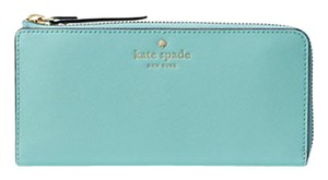 Kate Spade Mikas Pond Nisha Accordian Zip Wallet Soft Aqua