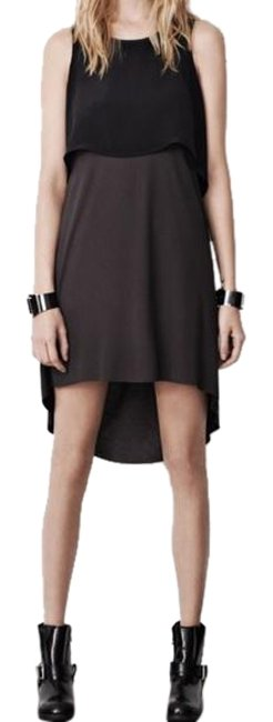 Item - Black & Gray Rubik Mid-length Night Out Dress Size 4 (S)