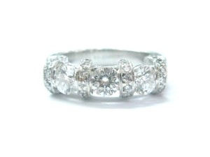 Other Platinum Three Stone Diamond Milgrain Engagement Ring 1.48Ct