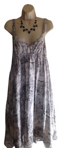 Calvin Klein short dress Gray, Black & White Medium 100% Cotton Sun on Tradesy