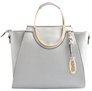 USO COUTURE Leather Bagsforwomen Fashionforwomen Formalbags Tote in SILVER