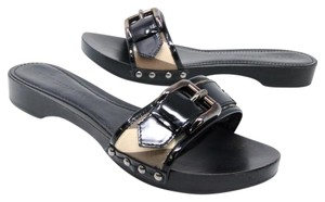 Burberry Miller Italy Givenchy Gucci Chanel Black Sandals