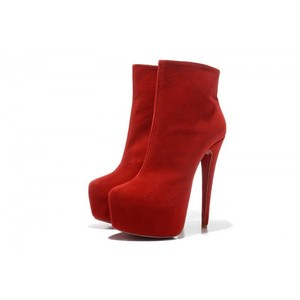 Christian Louboutin Louboutin Suede Platform red Boots