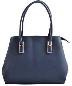 USO COUTURE Leather Handbags Tote in Navy