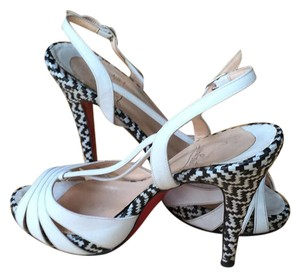 Christian Louboutin Louboutin Sandals Heels Black And Ankle white Platforms