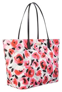 Kate Spade Oversized Large Multifunction Floral Roses Tote in Pink