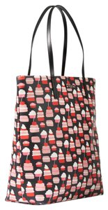 Kate Spade Multicolor Take The Cake Large Multifunction Tote in black