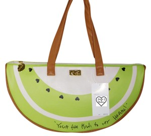 Betsey Johnson Kiwi Slice Style Satchel in GREEN