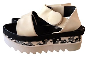 Stella McCartney Cornelia Strappy Sandals Wedges And Black/White Platforms