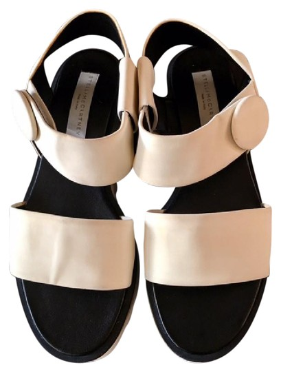 Stella McCartney Cornelia Strappy Sandals Wedges And Black/White Platforms Image 1