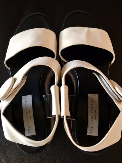 Stella McCartney Cornelia Strappy Sandals Wedges And Black/White Platforms Image 5