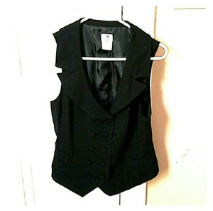 Worthington Wide Collar Lined Vest