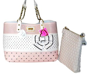 Betsey Johnson Bone Tote in BLUSH