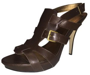 Guess By Marciano Leather Brown Sandals