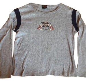 Harley Davidson Top Grey/Navy/Red/White