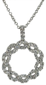 Other 925 Sterling Silver Circle CZ Charm Necklace