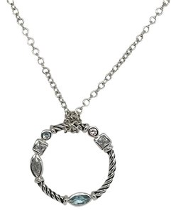 Other 925 Sterling Silver Twist CZ Circle Pendant