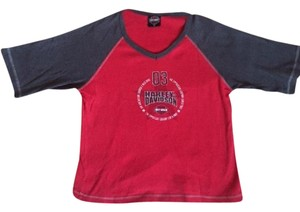 Harley Davidson Top Red/Grey